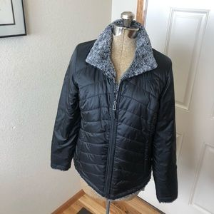 The North Face Reversible Black & Gray Jacket